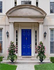 Front door with portico