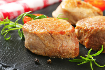 Pan-seared pork medallions
