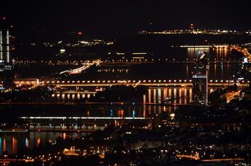 Nachtaufnahme Wien Donau