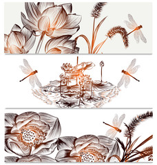 Floral  backgrounds set in elegant style
