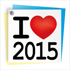 2015 Post_IT I LOVE