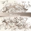Wedding  floral background