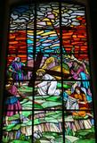 Jesus carrying the cross on the Via Dolorosa