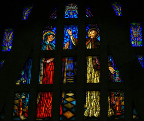 The Visitation - stained glass