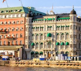 STOCKHOLM - JUNE 24, 2007: Locals and tourists enjoy city life.