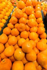 Citrus fruit on the supermarket stall