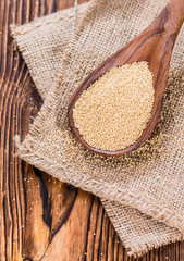 Amaranth on a wooden Spoon