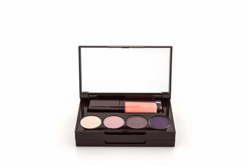 Decorative Cosmetic set with lipstick and eyeshadow.
