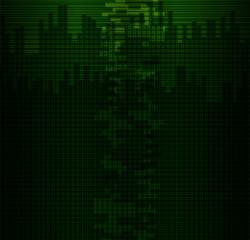 Dark Green grid background