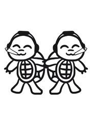 2 Kiffen Party Musik DJ Rauchen Schildkröten