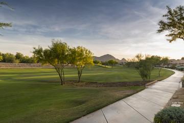Scottsdale Greenbelt Park and Camelback Mountain