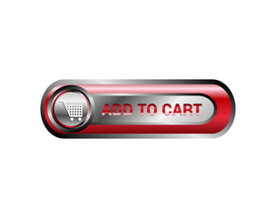 Add to cart icon, button vector