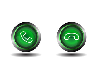 Phone icon contact button