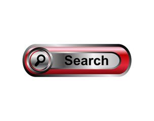 Search icon button vector