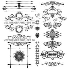 Векторный набор-декоративный,черный