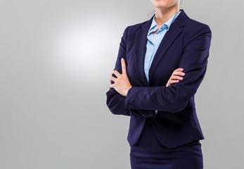 Businesswoman cross arm