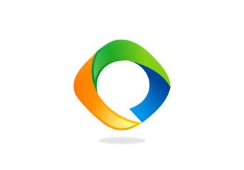 circle abstract technology vector logo