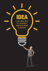 Light Bulb Idea Infographic