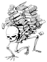 Book Pile Skeleton