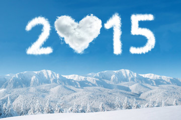 2015 cloud over mountain frozen