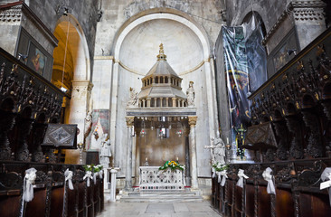 Church interior at Trogir in Croatia