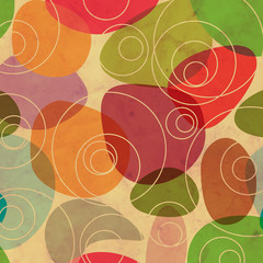 Vintage Random Colorful Circles Background