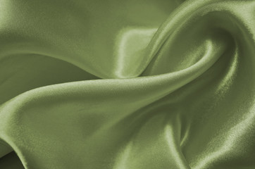 Texture green satin, silk background