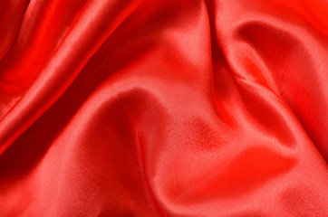 Texture red satin, silk background