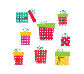 set of christmas gifts for design