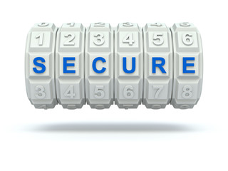 Combination lock with secure word