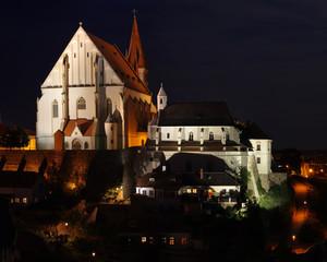 Znojmo Czech republic night scene