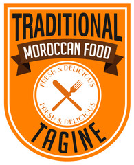 moroccan food tagine label