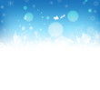 Christmas abstract snowflakes background