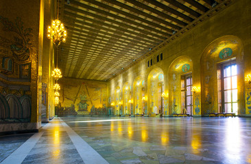 .Sweden, Stockholm, Kungsholmen, City Hall, the Golden Room