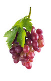 Bunch of ripe pink grapes. isolate