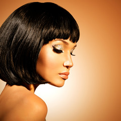 glamour woman  with shot hairstyle