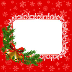 snowflake frame and bells