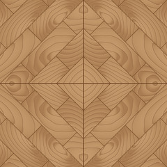 Wood plank for parquet floor, vector illustration