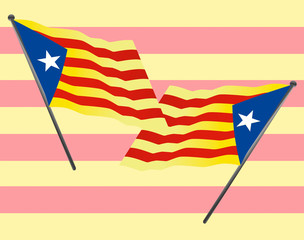 Two Blue Starred Flag, catalan pro-independence flag