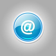 AT Circular Vector Blue Web Icon Button