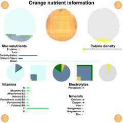 Orange nutrient information