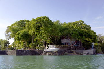 Bungalow on islands Lake Nicaragua (or Lake Cocibolka)
