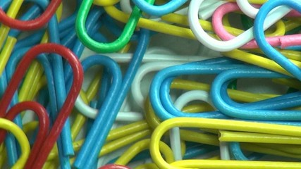Paper Clips, Multi Colored, Office Supplies