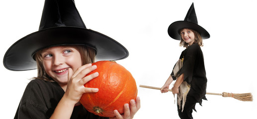 little witch on halloween