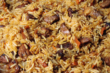 Pilau, pilaw, plov - a rice and meat meal macro