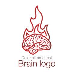 Brain logo, vector logotype