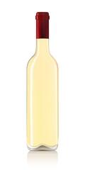 White wine bottle  on white