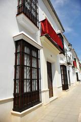 Arquitectura andaluza, balcones y rejas, Osuna, Sevilla, España