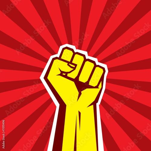 Hand Up Proletarian Revolution. Fist of revolution. - 70111496