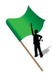 Top départ sur fond drapeau